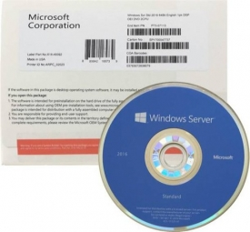 LICENÇA MICROSOFT WINDOWS SERVER 2016 STANDARD 16 CORE PACK OEM